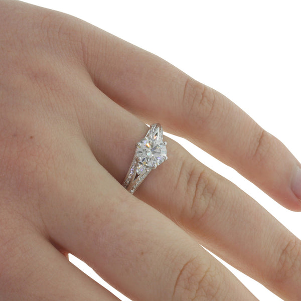 18ct White Gold 1.23ct Diamond Ring - Walker & Hall