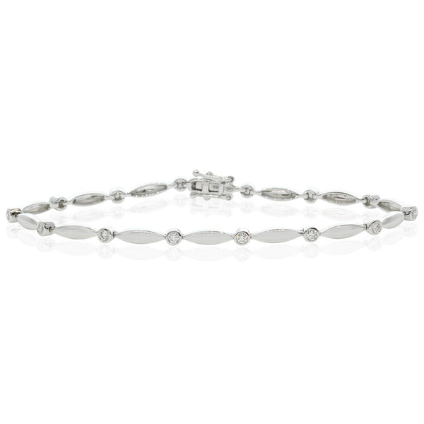 18ct White Gold .42ct Diamond Set Bracelet - Walker & Hall