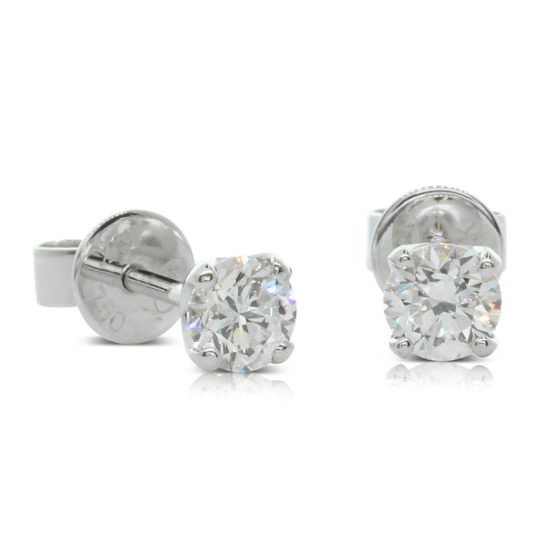 18ct White Gold .65ct Diamond Blossom Earrings - Walker & Hall