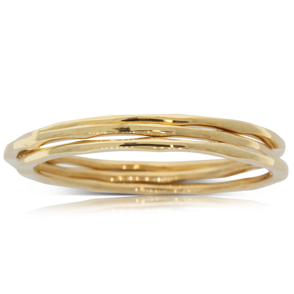 Boh Runga Lil 3 Stack Ring Set - Yellow Gold - Walker & Hall