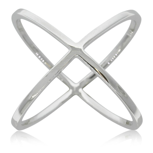 Sterling Silver X Ring - Walker & Hall