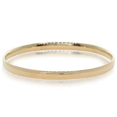 9ct Yellow Gold Child's Bangle - Walker & Hall