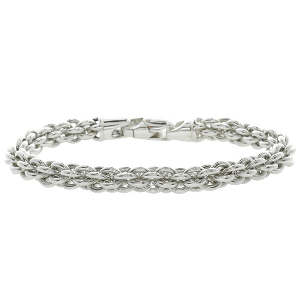 Sterling Silver Orb Link Bracelet - Walker & Hall