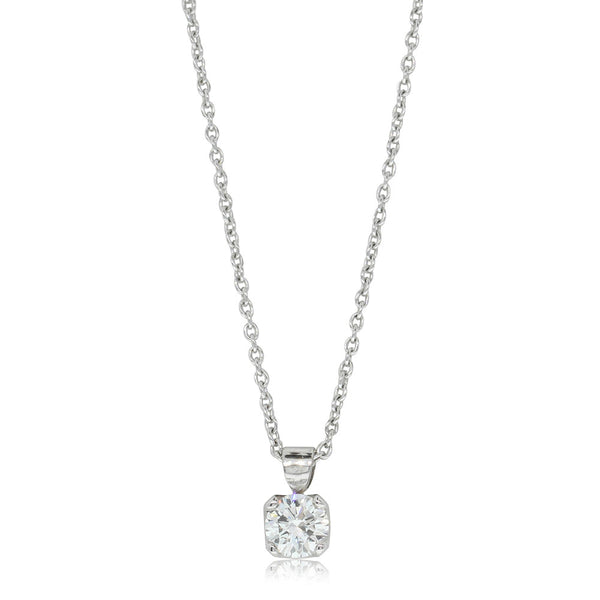 18ct White Gold .40ct Diamond Solitaire Pendant - Walker & Hall
