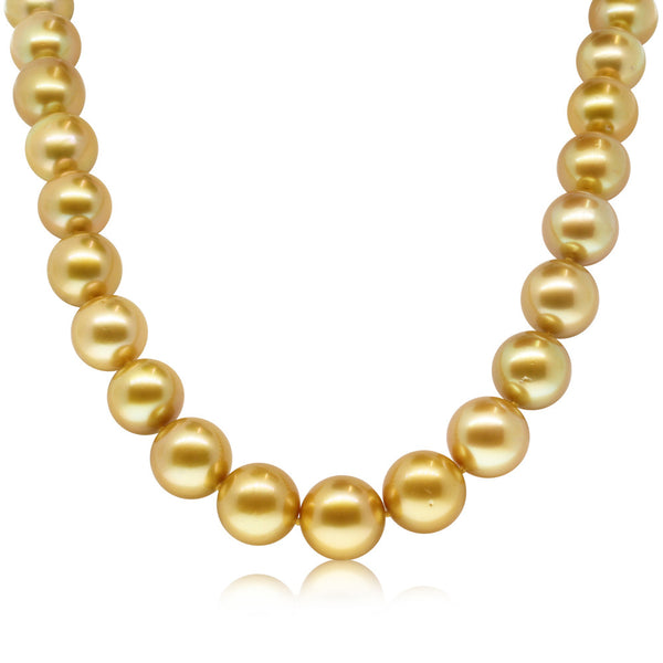 Cultured Golden South Sea Pearl Necklace - Walker & Hall