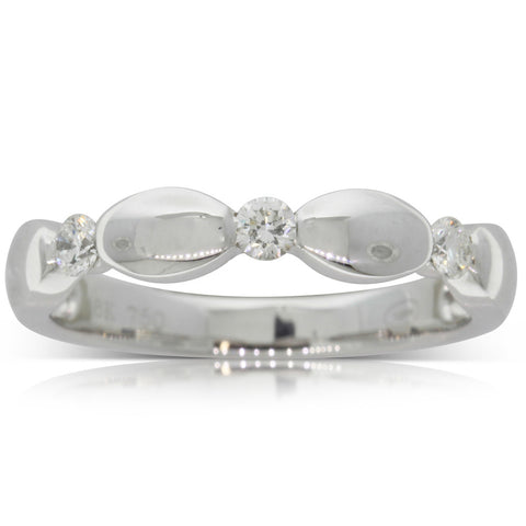 18ct White Gold .20ct Diamond Band - Walker & Hall