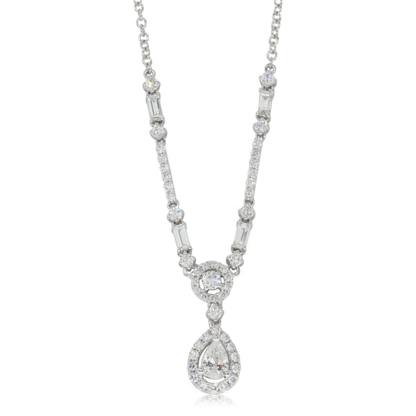 18ct White Gold 1.20ct Diamond Necklace - Walker & Hall
