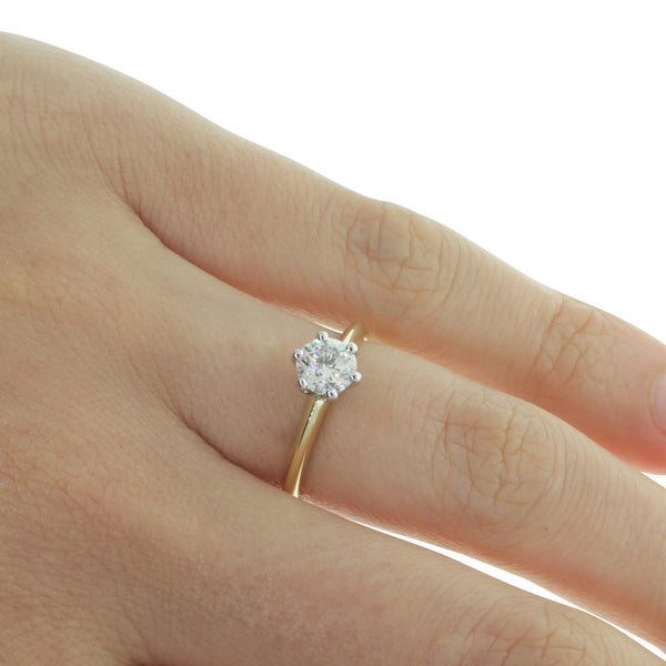 18ct Yellow Gold .75ct Diamond Cosmopolitan Ring - Walker & Hall
