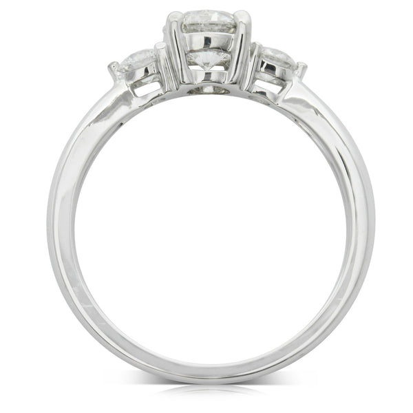 18ct White Gold .71ct Diamond Elysian Ring - Walker & Hall
