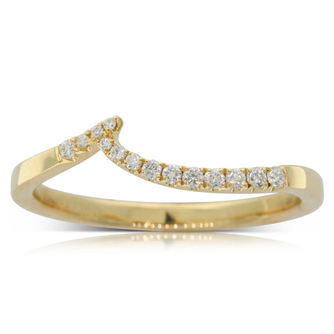 18ct Yellow Gold .12ct Diamond Solstice Band - Walker & Hall
