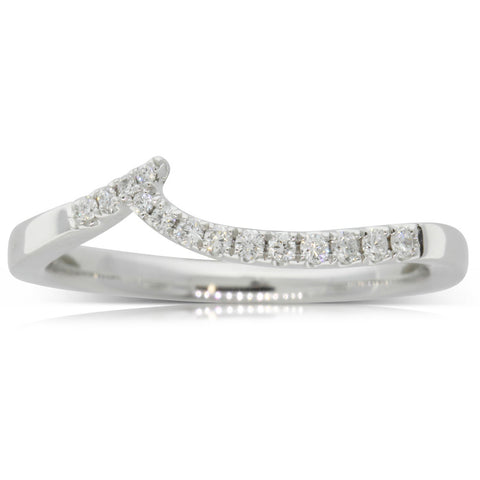 18ct White Gold .12ct Diamond Solstice Band - Walker & Hall