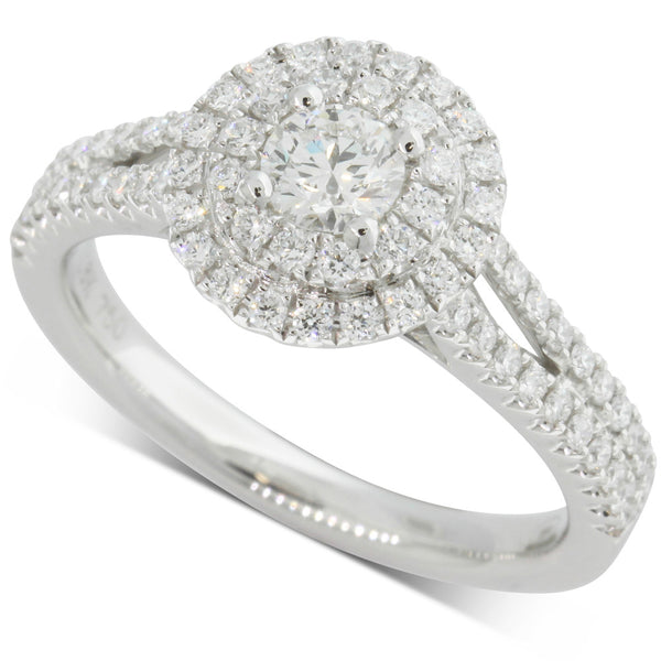18ct White Gold .30ct Diamond Altura Ring - Walker & Hall