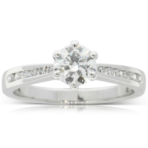 18ct White Gold .70ct Diamond Avalon Ring - Walker & Hall