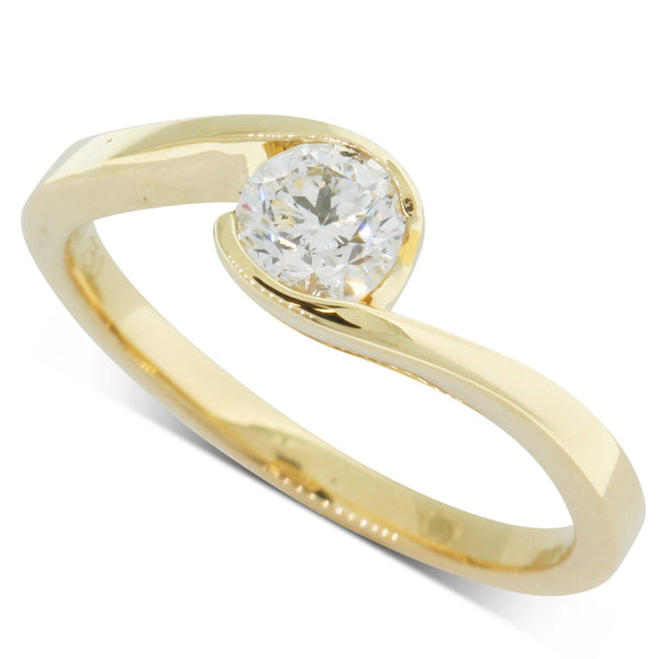 18ct Yellow Gold .46ct Diamond Embrace Ring - Walker & Hall