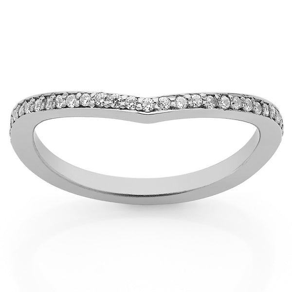 Meadowlark Curved Eternity Band - Sterling Silver - Walker & Hall