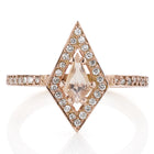 Meadowlark Kite Engagement Ring - 9ct Rose Gold & Morganite - Walker & Hall
