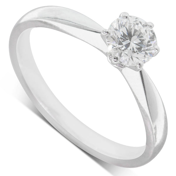 Platinum .63ct Diamond Solitaire Ring - Walker & Hall