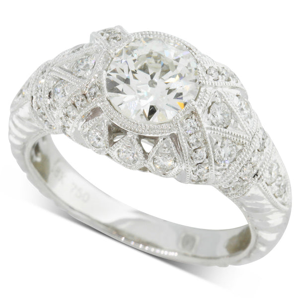 18ct White Gold 1.17ct Diamond Ring