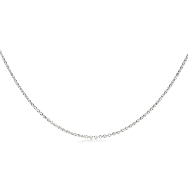 18ct White Gold Round Trace Chain - Walker & Hall