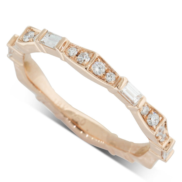 18ct Rose Gold .44ct Diamond Eternity Ring - Walker & Hall