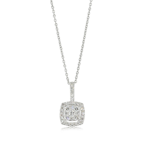 9ct White Gold .47ct Diamond Aquila Pendant - Walker & Hall