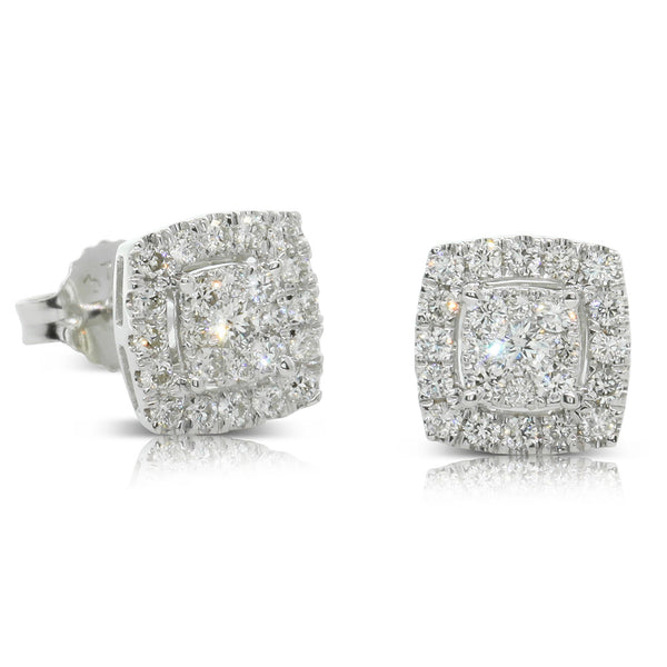 9ct White Gold .47ct Diamond Aquila Stud Earrings