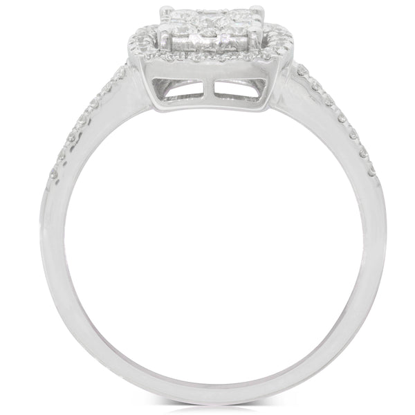 9ct White Gold .46ct Diamond Aquila Ring - Walker & Hall