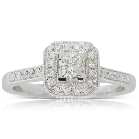 18ct White Gold .40ct Diamond Mandalay Ring - Walker & Hall