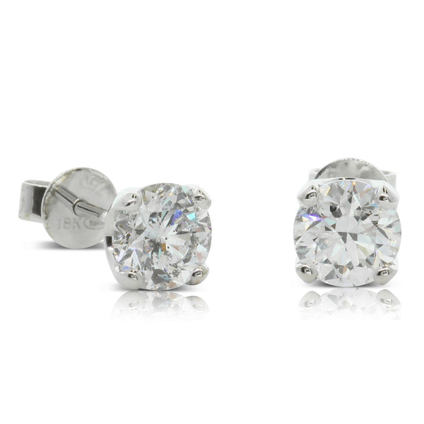 18ct White Gold 2.00ct Diamond Blossom Earrings
