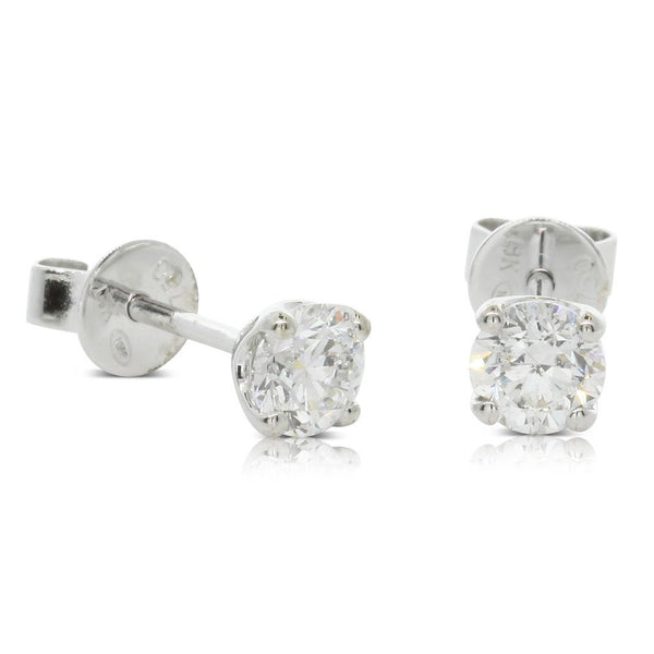 18ct White Gold .80ct Diamond Blossom Earrings - Walker & Hall