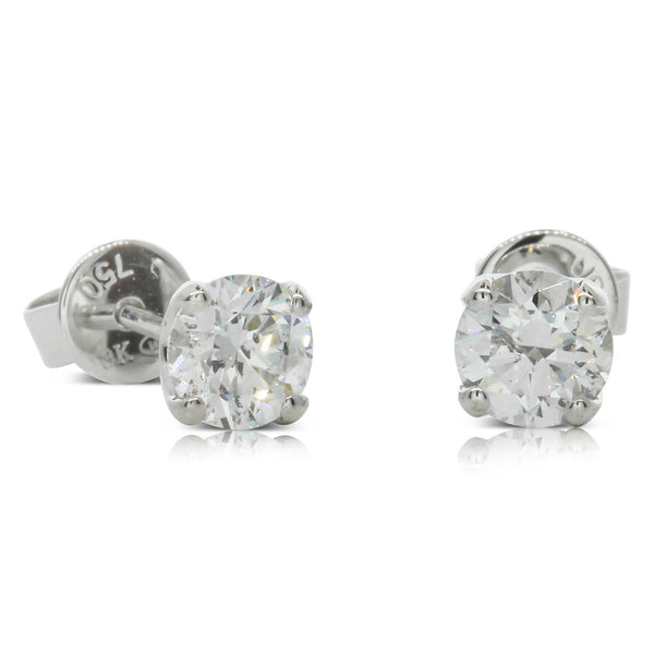 18ct White Gold 1.62ct Diamond Blossom Earrings - Walker & Hall