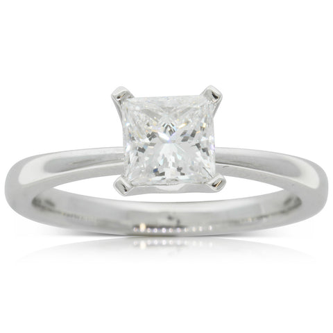 18ct White Gold 1.01ct Diamond Royale Ring - Walker & Hall