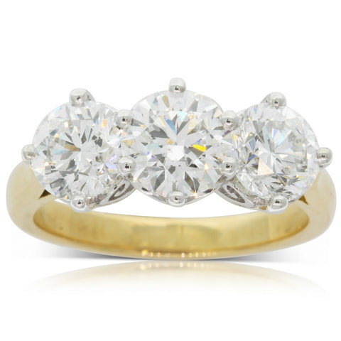 18ct Yellow Gold 3.15ct Diamond Coronado Ring - Walker & Hall