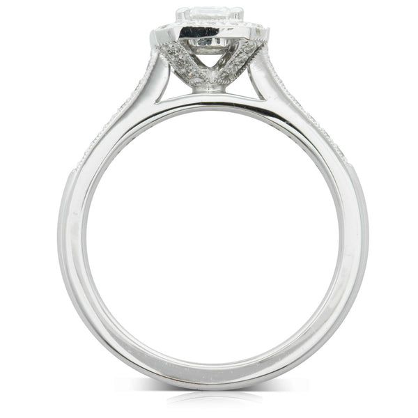 18ct White Gold .48ct Diamond Aria Ring - Walker & Hall