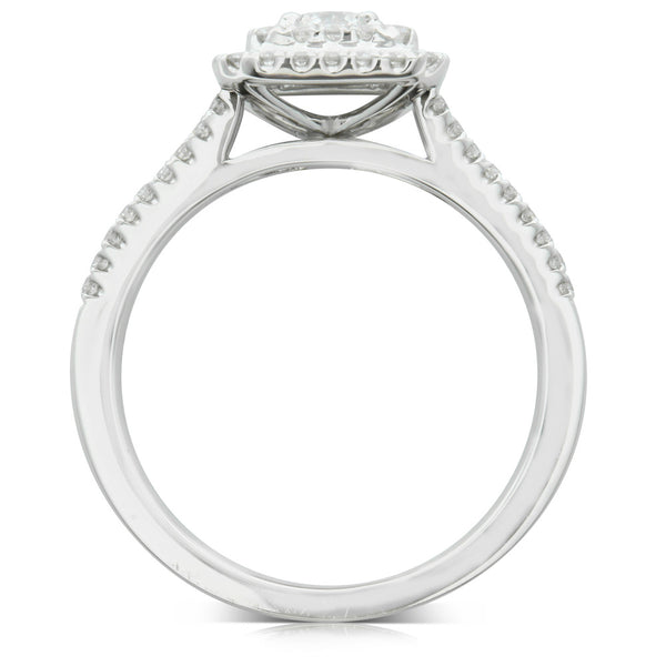 18ct White Gold Diamond Luxor Ring - Walker & Hall