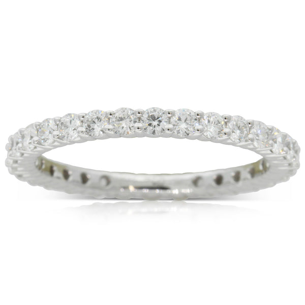 18ct White Gold 1.00ct Diamond Eternity Ring - Walker & Hall