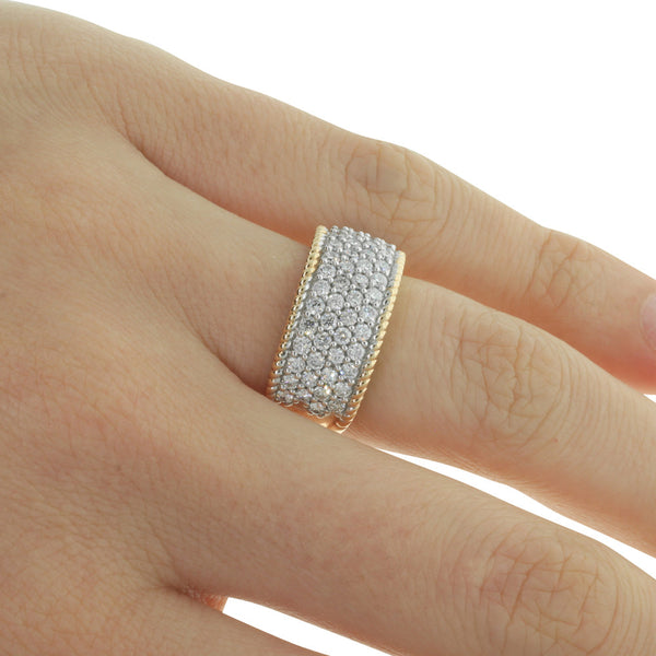 18ct Rose Gold 1.38ct Diamond Band - Walker & Hall