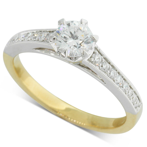 18ct Yellow & 18ct White Gold Diamond Ring - Walker & Hall