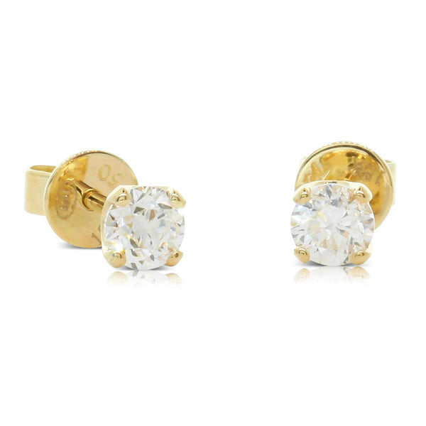 18ct Yellow Gold .60ct Diamond Blossom Earrings - Walker & Hall
