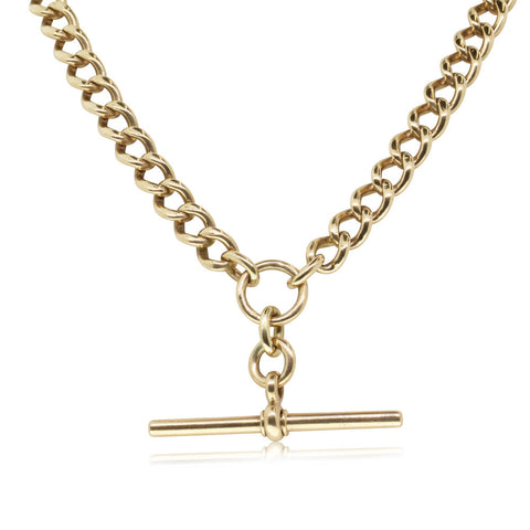 Vintage 18ct Yellow Gold Fob Chain - Walker & Hall