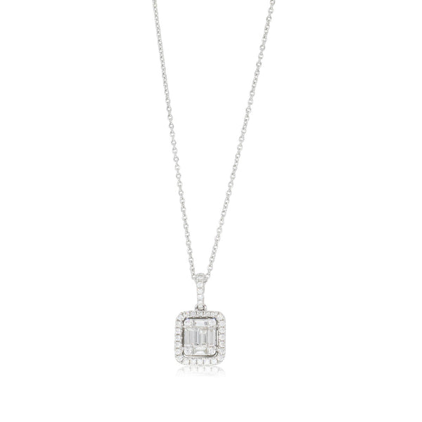 18ct White Gold .67ct Diamond Pendant - Walker & Hall