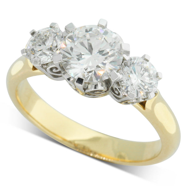 18ct Yellow Gold 2.04ct Diamond Coronado Ring - Walker & Hall