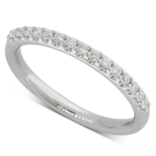 Platinum .21ct Diamond Band - Walker & Hall