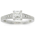 18ct White Gold .95ct Square Emerald Cut Diamond Vantage Ring - Walker & Hall