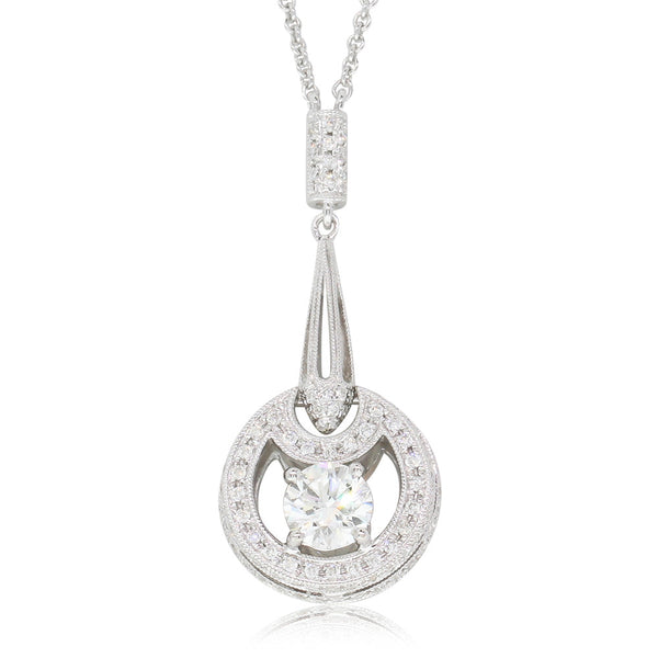 18ct White Gold .73ct Diamond Pendant - Walker & Hall