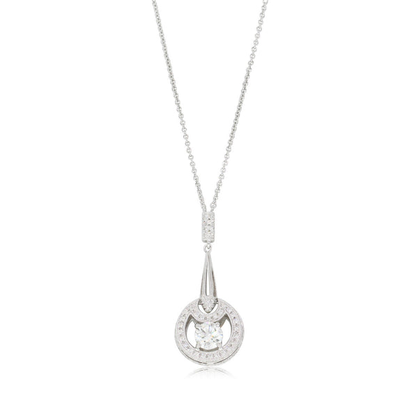 18ct White Gold .73ct Diamond Pendant