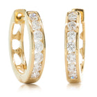 18ct Yellow Gold .50ct Diamond Tigris Hoop Earrings - Walker & Hall