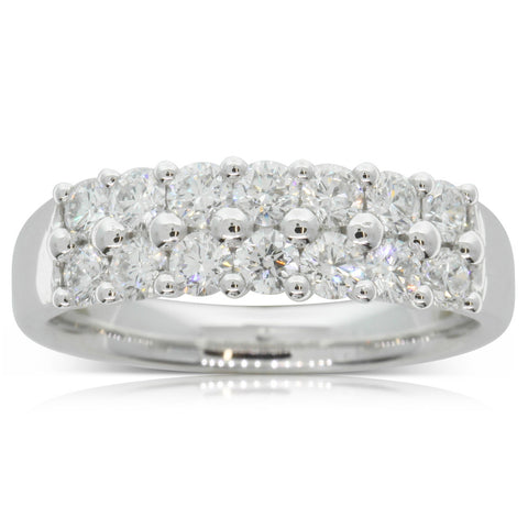 18ct White Gold 1.00ct Diamond Apollo Ring - Walker & Hall