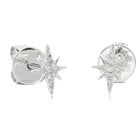18ct White Gold Supernova Mini Earrings - Walker & Hall