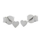 Meadowlark Heart Micro Studs - Sterling Silver - Walker & Hall